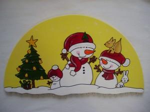 Adventskalender Schneemann mit Familie